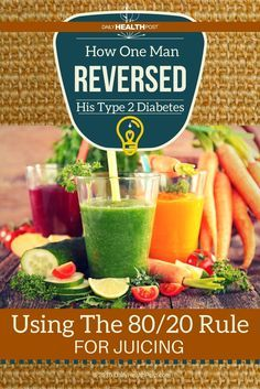 However, case reports are beginning to show that juicing may hold the key to reversing debilitating diseases like diabetes.