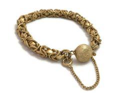 Vintage byzantine gold chain – Etsy