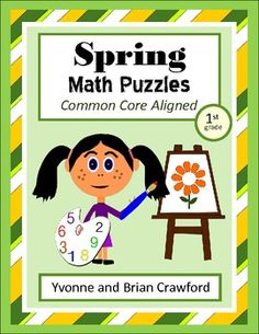 For 1st grade - Spring Common Core Math Puzzles $