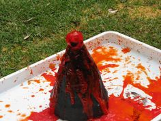 How to make a Homemade Volcano?  This post has a step by step guide with interesting facts about volcanoes too.