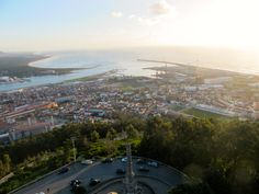 view from the top of santa luzia viana, portugal
