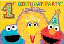 Sesame Street Pack of 8 Invitations - 1st Birthday