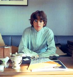 George Harrison in the Presidential Suite of the Tokyo Hilton, June 1966, by Robert Whitaker, via