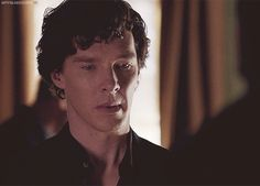 Sherlock as he meets Tom. You can see the realization on his face...