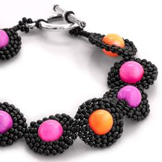 Neon Time Bracelet | Fusion Beads Inspiration Gallery + pattern link