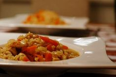 Garlic Chicken Risotto with Carrots Lunch