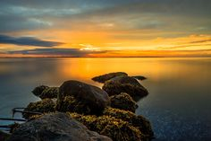 Sunrise Denmark III - Sunrise Moesgaard beach Denmark, long-term exposure. Long exposure Lee Filter Bigstopper 10 Nd.