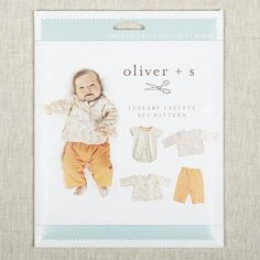 Liesl's Lullaby Layette Set include four essential pieces for your little one's wardrobe. The bodysuit, shirt, pants, and reversible jacket are all just as sweet as can be! Snaps and elastic make changing baby easy. While sewing this sweet little set, you'll learn how to sew bias binding, darts, snap placket, pleats an