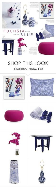 """""""Fuchsia & Blue"""" by c-silla on Polyvore featuring interior, interiors, interior design, home, home decor, interior decorating, John Lewis, John Robshaw, Arper and Nearly Natural"""