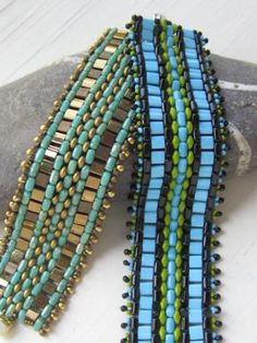 Super duos, rullas, tilas and drops all rolled into one really cool bracelet pattern at Sova-Enterprises.com