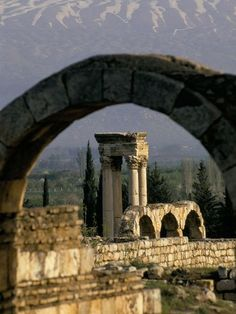 South West Asia: Ancient Ruins, Anjar, Lebanon-This might be better for the castle area -- look to see how far away this is from Zahle. Places Around The World, Around The Worlds, Baalbek, Ancient Ruins, Ancient Civilizations, Vacation Trips, National Geographic, Wonders Of The World, Beautiful Places