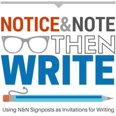 Notice & Note, then Write: A Blueprint Teaching Literature, Teaching Writing, Student Teaching, Writing Activities, Teaching English, Teaching Ideas, Reading Comprehension Passages, Reading Strategies, Reading Skills