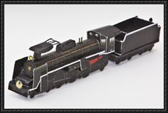"SL Yamaguchi-go Steam Train Free Paper Model Download  This paper model is the SL Yamaguchi-go Steam Train, nicknamed ""the lady"", the papercraft is created by westjr. You can download this paper model..."