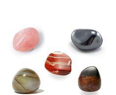 5 pierres roulées Pack Emotion, lithothérapie, pierre semi précieuse, Jaspe Rouge, Hématite, Agate nature, Sardoine et Quartz rose.