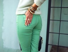 I really want some mint pants!