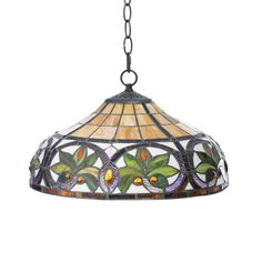 12a7e49524e Warm up the lighting in your kitchen or family room with this handcrafted  stained glass hanging