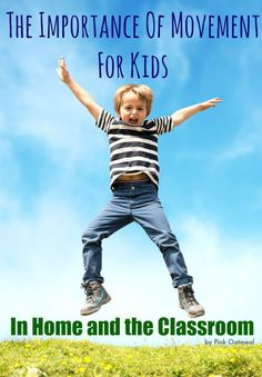The Importance Of Movement For Kids - Why Brain Breaks, Recess, Kinesthetic Learning, and PE matter! Gross Motor Activities, Sensory Activities, Physical Activities, Learning Activities, Teaching Ideas, Sensory Motor, Pediatric Physical Therapy, Physical Education, Occupational Therapy