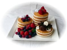 Pretend Play Kitchen - Felt Food Patterns - Pancakes by Design. $5.95, via Etsy.