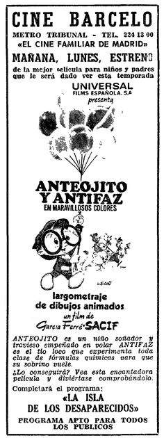 1972 - MIL INTENTOS Y UN INVENTO - Manuel García Ferré - (ABC, Domingo 9 de Septiembre de 1973, Madrid, España)