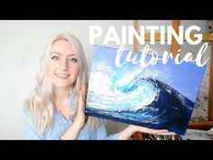 PAINTING TUTORIAL Acrylic Sunset & Blending Techniques   Katie Jobling Art - YouTube