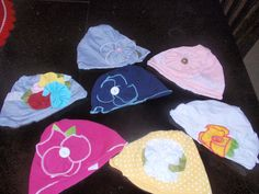 Cotton Beanie Caps for Baby Girls with Floral by posiesnpinwheels, $6.25