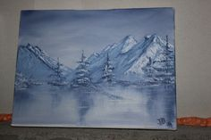 High Country Winter Original oil painting by DanielBentley on Etsy, $75.00