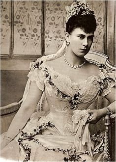Queen Mary on her wedding day