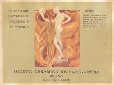 Pubblicità #Liberty della Richard Ginori.  www.italialiberty.it