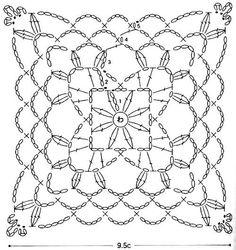 Crochet Art: Crochet Mini Doily - Square Crochet Motif