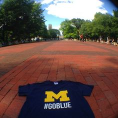A beautiful day to #GoBlue on the Diag!