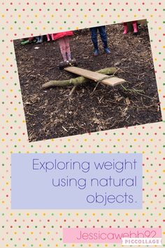 Outdoor weighing using natural objects. EYFS
