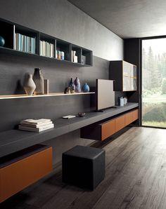 Home Office Setup, Home Office Design, House Design, Living Area, Living Spaces, Tv Wall Design, Custom Made Furniture, Modern Bedroom, Cabinet