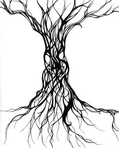 abstract line drawings of trees - Google Search
