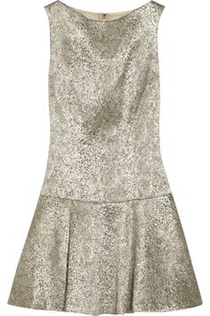 Lora metallic stretch-jacquard dress by Alice + Olivia
