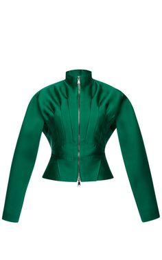 Emerald Silk Scuba Kimono Sleeve Jacket