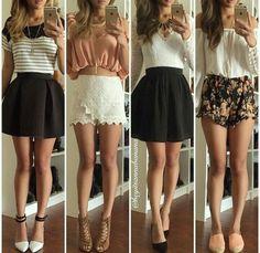 Diferentes outfit, igual de hermosos.