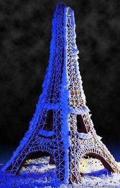 Parisian Themed Gingerbread Eiffel Tower