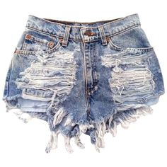 FsJoy Women's Sexy Slim Classic Denim Ripped Destoryes Hole Mini... ($11) ❤ liked on Polyvore featuring shorts, bottoms, pants, destroyed denim shorts, short shorts, denim short shorts, hot shorts e slim fit shorts