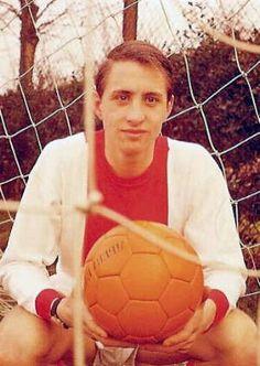 Young Johan Cruijff, Ajax Amsterdam. A legend.