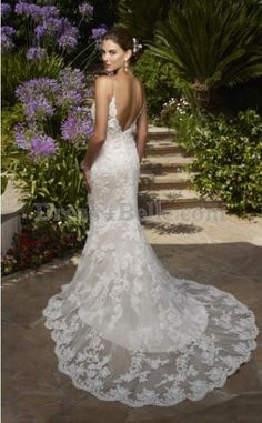 backless lace wedding dresses - Google Search