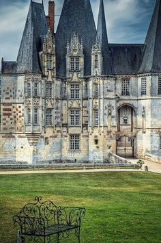 Ancient Castle, Normandy, France