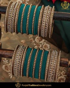 Antique Gold Pearl Bangles Set For Both Hands Indian Jewelry Earrings, Indian Jewelry Sets, Jewelry Design Earrings, Egyptian Jewelry, Crystal Jewelry, Silver Jewelry, Silver Rings, Egyptian Art, Fashion Earrings