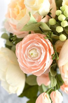 peaches-cream-pink-ranunculus-craftedtobloom-paperflowers