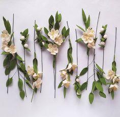 409 отметок «Нравится», 18 комментариев — Canserina Felt Flowers & Craft (@canserina) в Instagram: «(Supposed to be) Apple Blossom  #canserinaflowercharts»