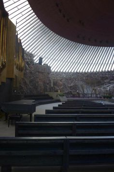 Christ Of The Rock Church - Helsinki Travel Pics, Travel Pictures, Church Interior, Christian Church, Place Of Worship, Helsinki, Mosque, The Rock, Interiors