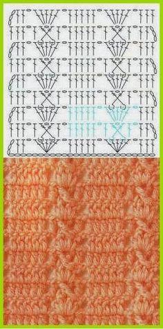 150 PONTOS FANTASÍA EN CROCHET CON GRÁFICOS PATRONES   Patrones Crochet, Manualidades y Reciclado