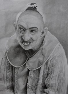 """Name: #NaomiGrossman #Actress, #AmericanHorrorStory  Features  - Graphite pencils on paper 180g / m² - Signed by the artist Measurements  - 43 x 61 cm / 17"""" W x 24"""" H Inch  Video on YouTube↓ https://youtu.be/79wJWQDMHhA  #Art #Drawing #CreationByKK"""