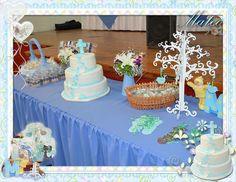 Mesa de Dulces Bautizo Pastel Bautizo Árbol de los Deseos de Madera
