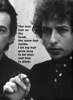 A Bob Dylan & Johnny Cash. Wise Bob, long hair is all. Gerard Way, Daniel Radcliffe, Bob Dylan Quotes, Bob's Your Uncle, Blowin' In The Wind, Just Good Friends, Joan Baez, Artist Quotes, Music Images