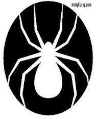 Spider pumpkin carving stencil